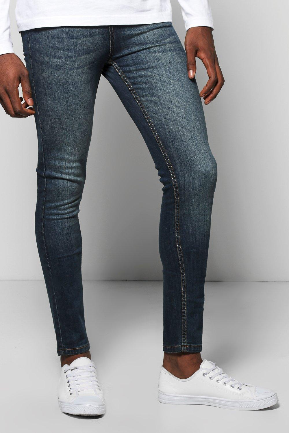 Mid Blue Skinny Fit Jeans