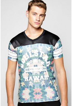 All Over Floral Panel T Shirt