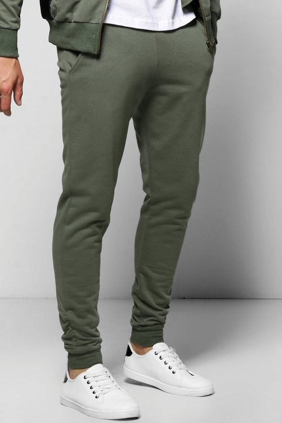 Skinny Fit Joggers With Rouching
