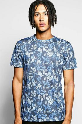 All Over Floral Sublimation T Shirt
