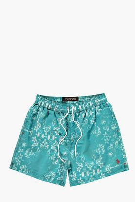Faded Floral Print Swim Shorts