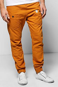 Cuffed Utility Chino Trousers