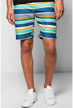 Multi Stripe Chino Shorts