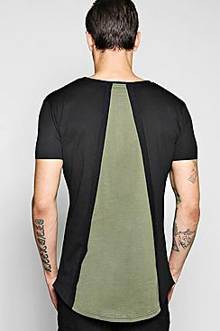 Cut And Sew Back Panel T Shirt