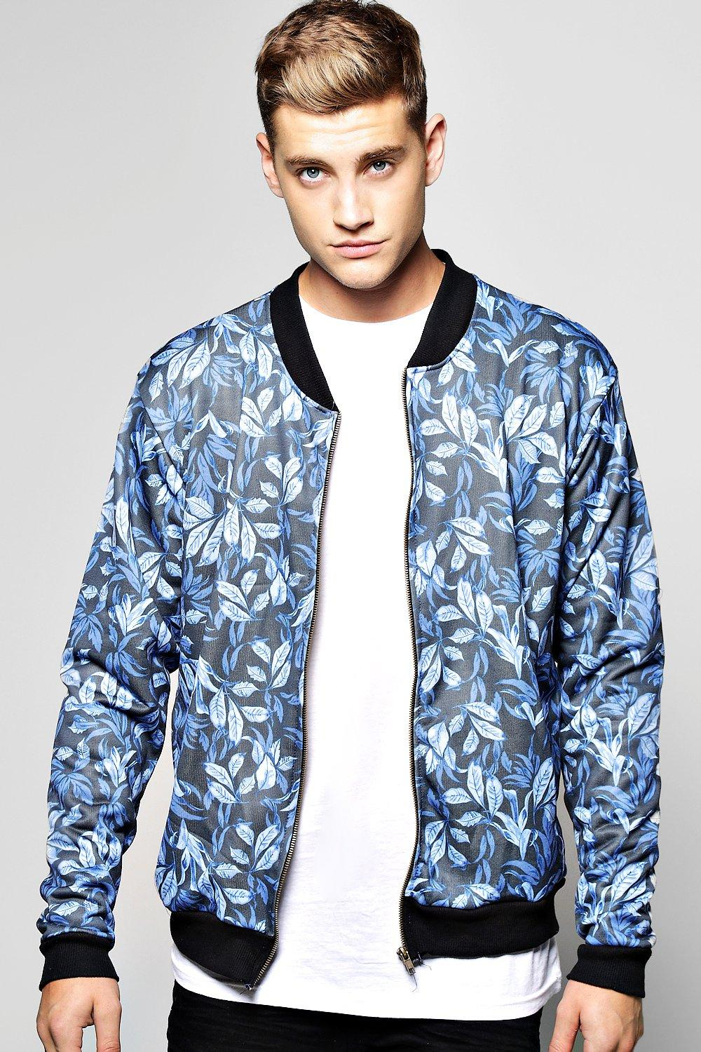 Floral Sublimation Bomber Jacket