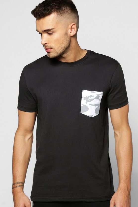 Short Sleeve Camo Pocket T Shirt