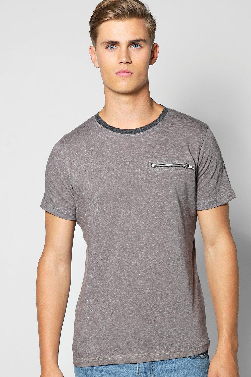 Space T Shirt With Zip Pocket