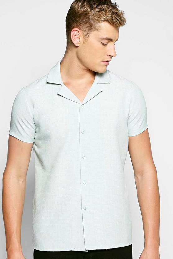 Slub Revere Collar Shirt
