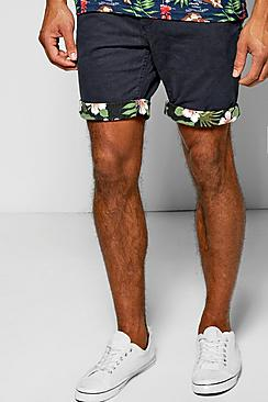 Floral Turn Up Chino Shorts