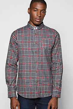 Brushed Check Shirt With Pocket Detail