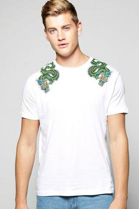 Dragon Shoulder Print Tee