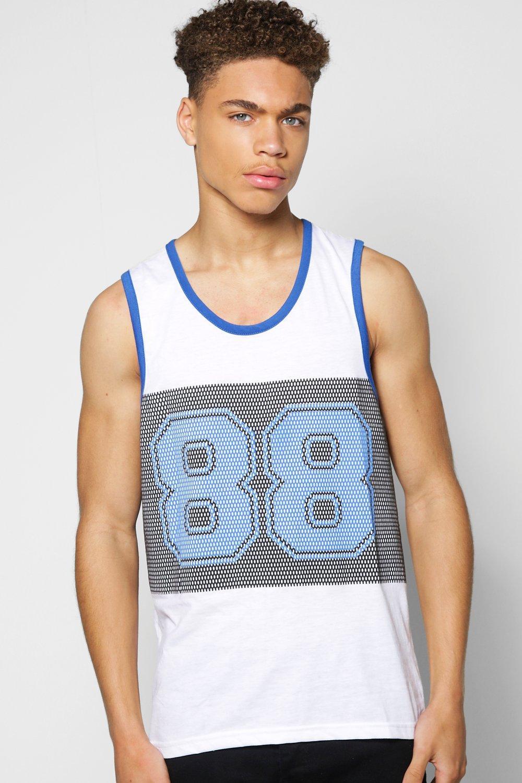 Sports Print Vest white