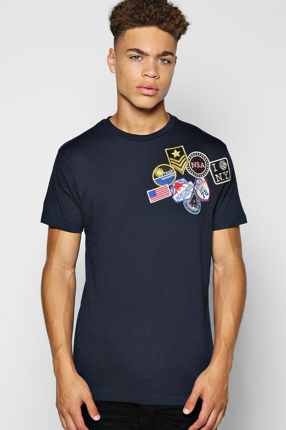 Badged Crew Neck T Shirt