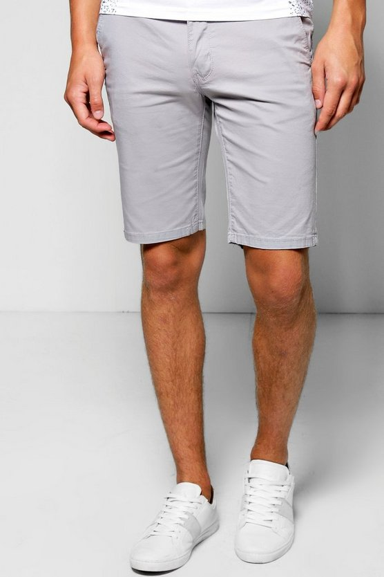 Skinny Fit Stretch Chino Short