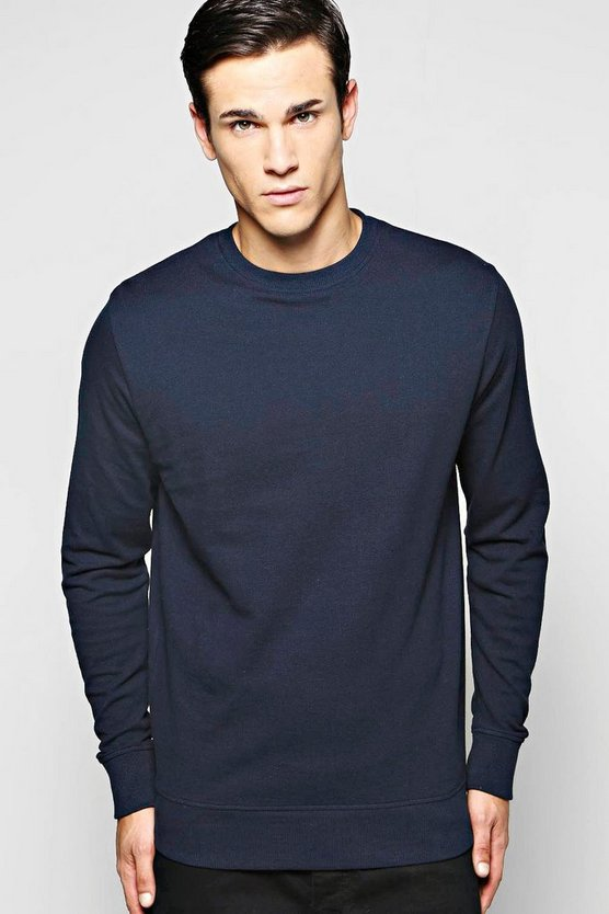 Cotton Pique Sweatshirt