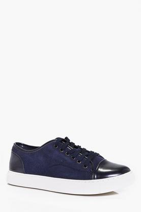 Lace Up Suedette Trainers