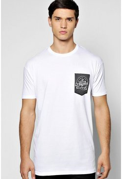 LA Pocket Longline T Shirt