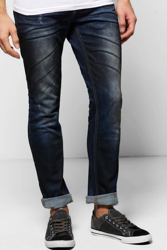Slim Fit Rigid Oil Wash 5 Pocket Jean