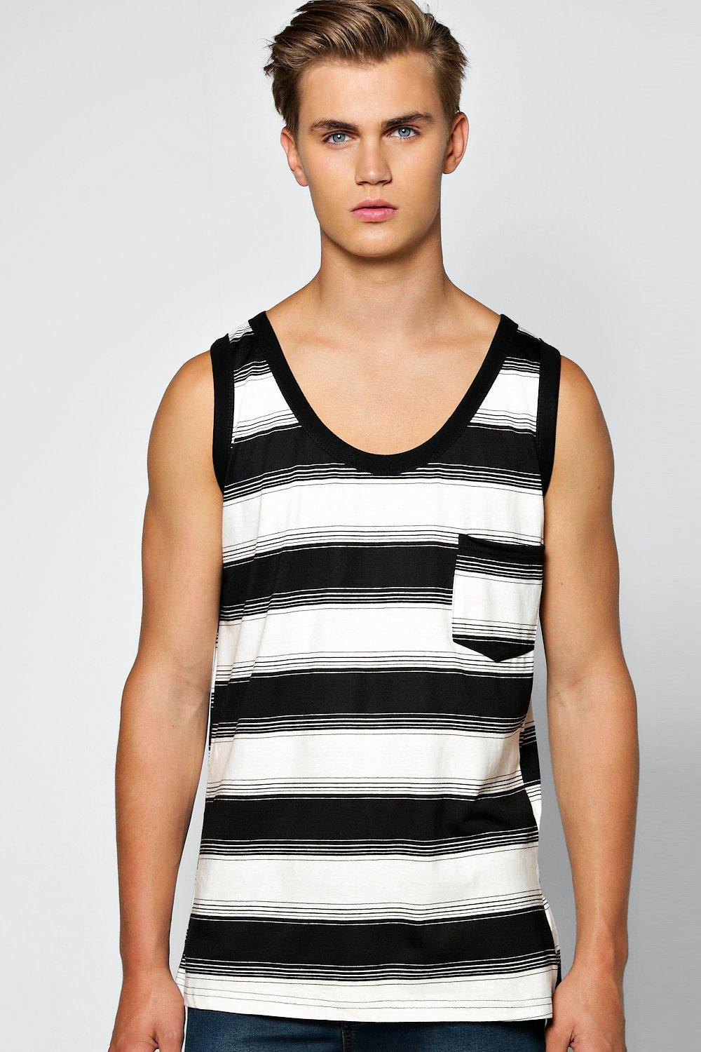 Dyed Irregular Stripe Vest multi