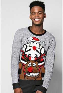 Riding Rudolph 3D Xmas Jumper