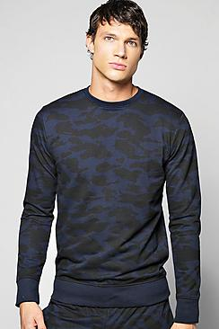Camo Crew Neck Sweater