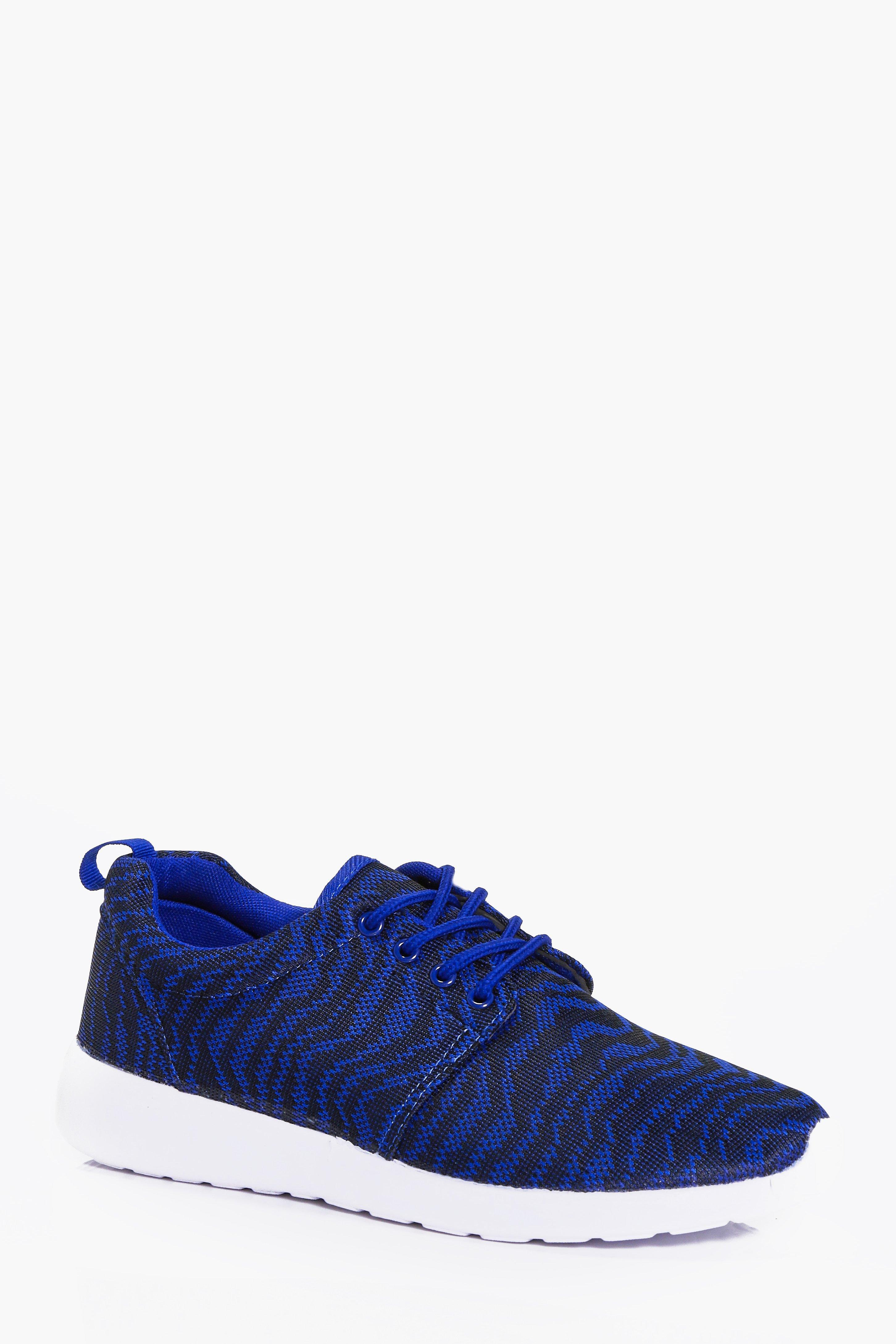 Product photo of Knit running trainers blue