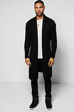 Longline Festival Cardigan in Fisherman Knit