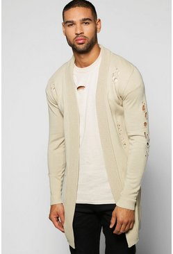 Muscle Fit Destroyed Cardigan