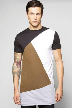 Longline Spliced T Shirt