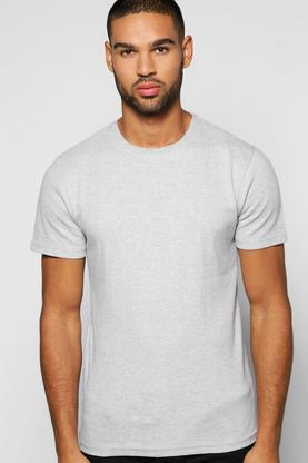 Crew Neck Ribbed T Shirt