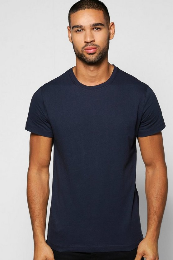 Skater Length T Shirt With Side Zips
