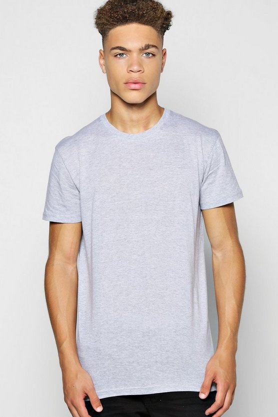 Longline Scoop Hem T Shirt