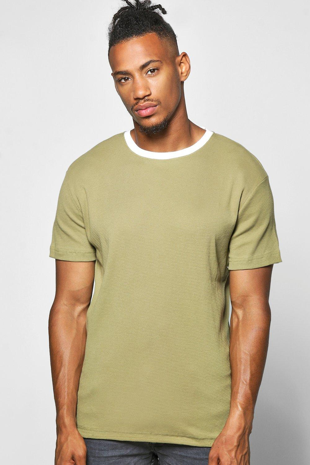 Textured T Shirt  khaki