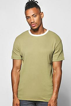 Ringer Textured T Shirt