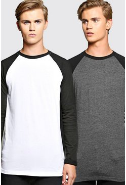 2 Pack Long Sleeve Raglan T Shirt