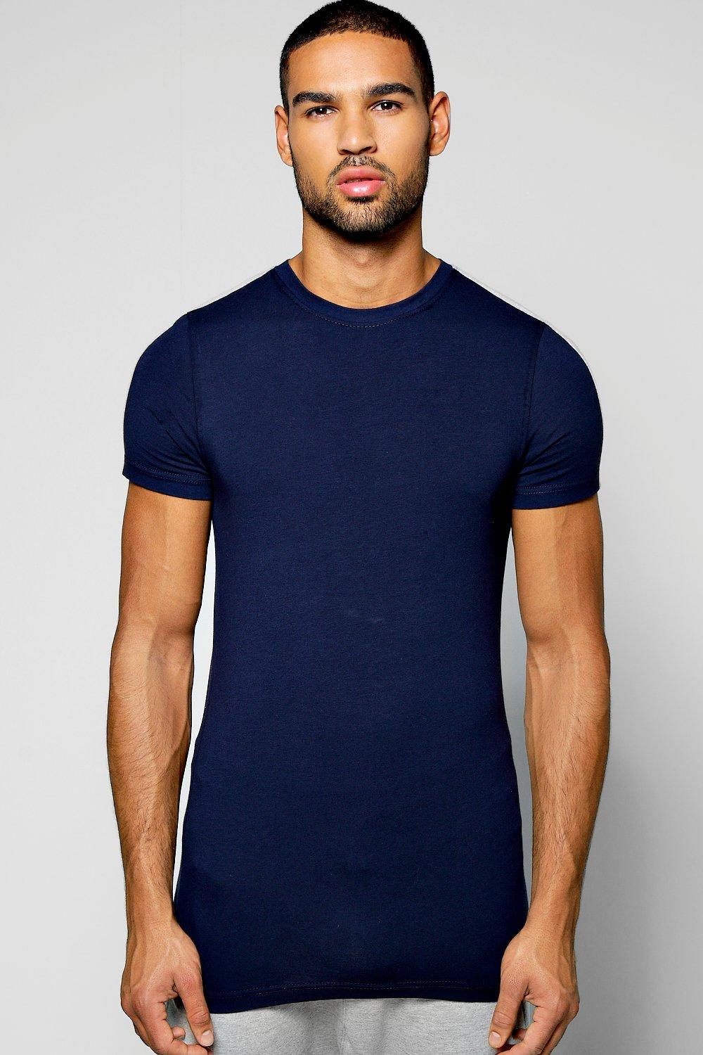 Muscle T Shirt With Contrast Shoulder