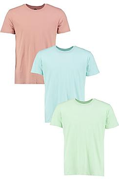 3 Pack Plain T Shirts