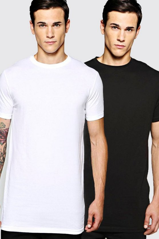 2 Pack Longline T Shirts