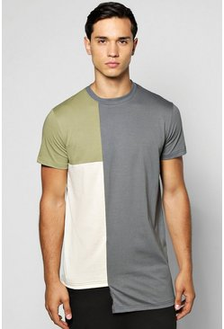 Colour Block Mock Layer Tee