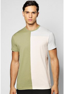 Spliced Block T Shirt