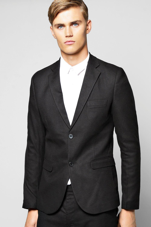 Skinny Fit Suit Jacket black
