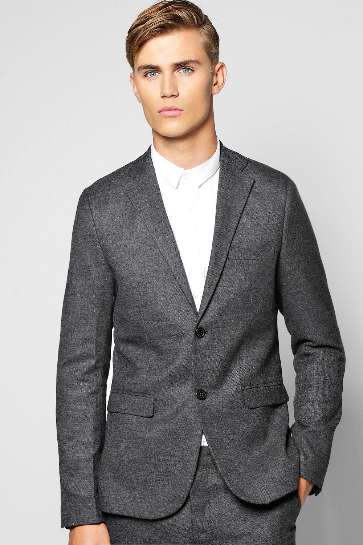 Skinny Fit Suit Jacket grey