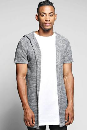 Cap Sleeved Hooded Cardi