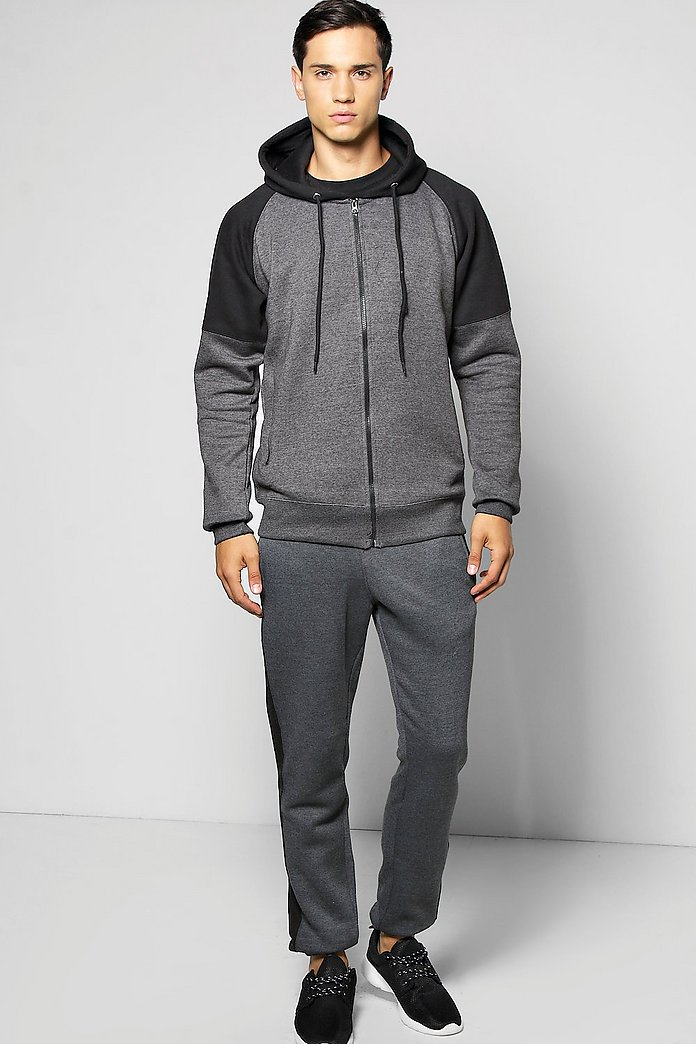 Raglan Hooded Tracksuit