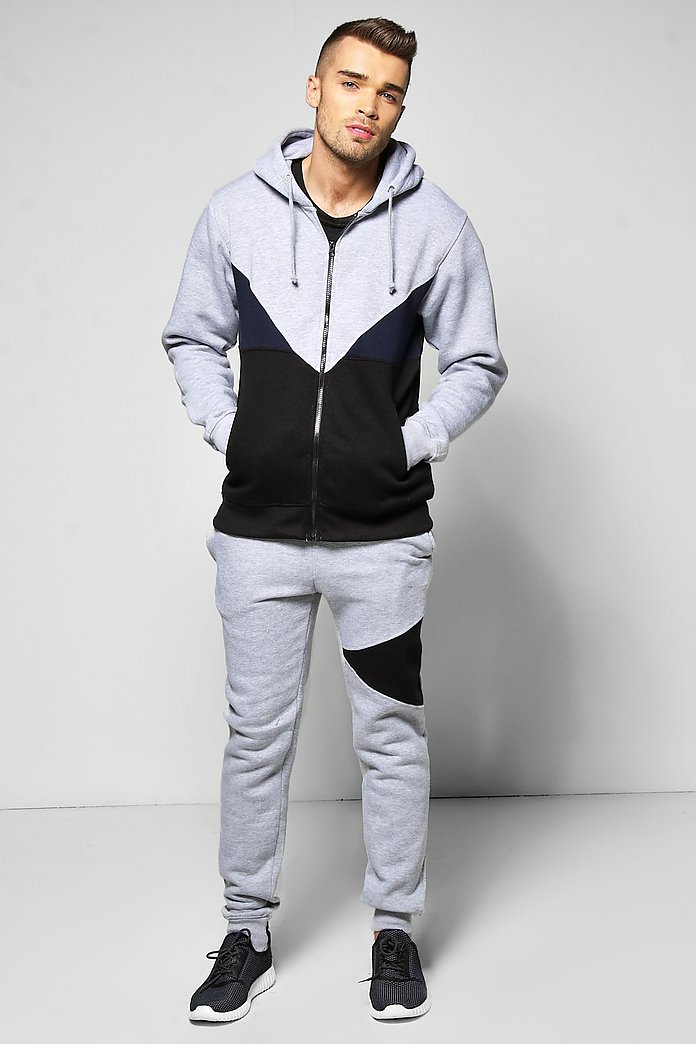 Hooded Spliced Tracksuit