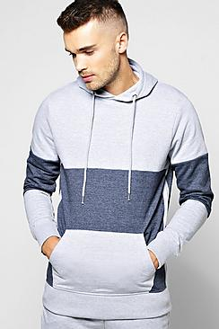 Two Tone Marl Hoody