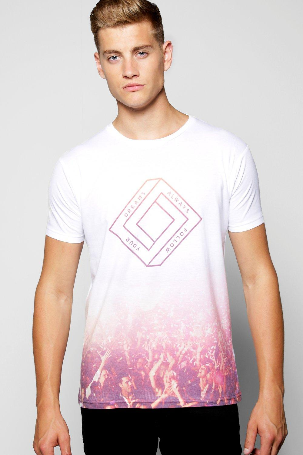 Faded Festival Sublimation T Shirt