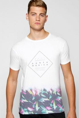 Santa Monica Faded Sublimation T Shirt