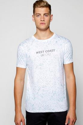 West Coast Speckle Sublimation T Shirt
