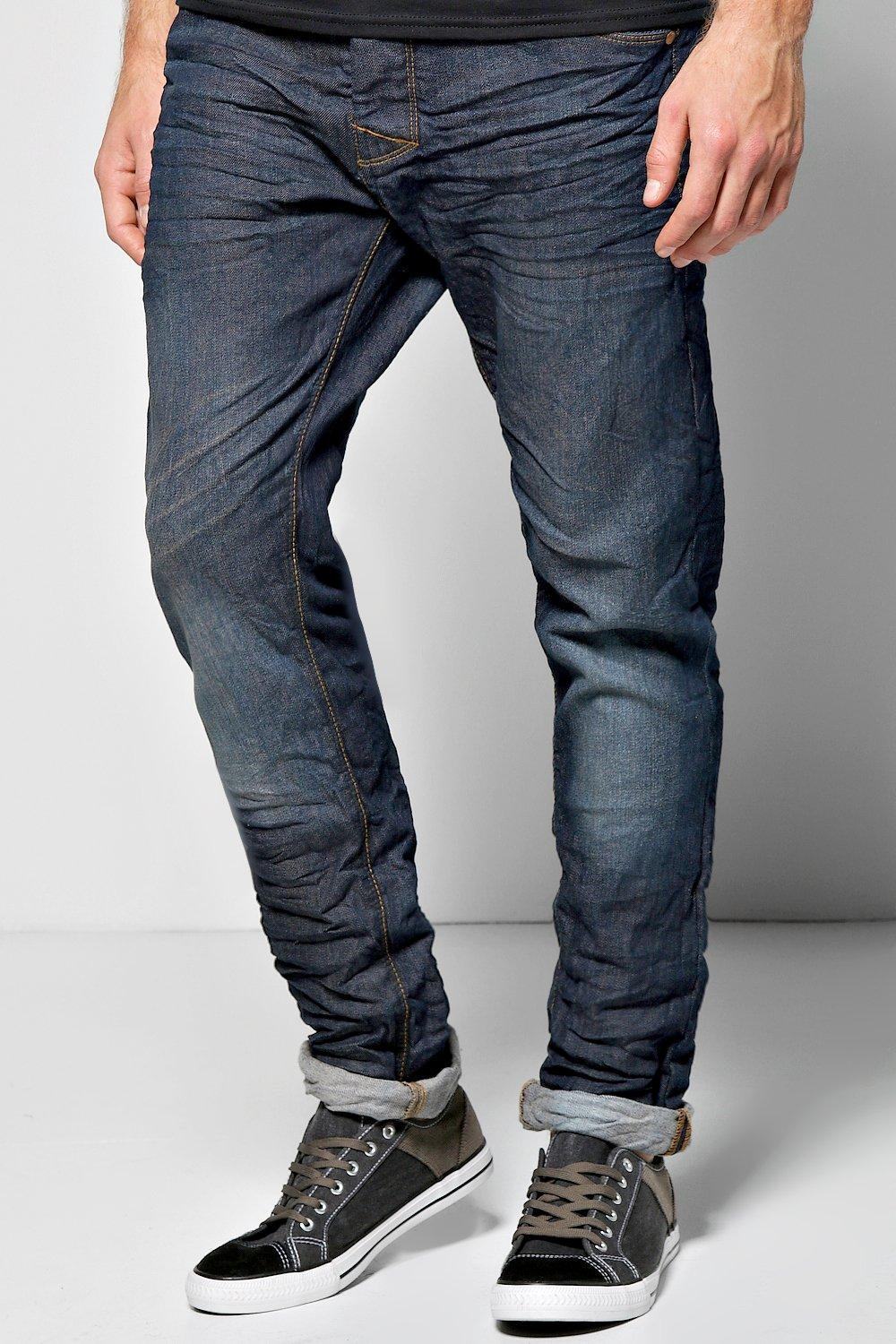 Fit Mid Wash Jeans mid navy